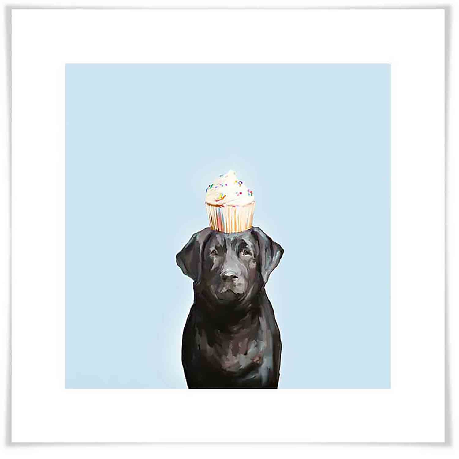 Party Black Lab Art Print
