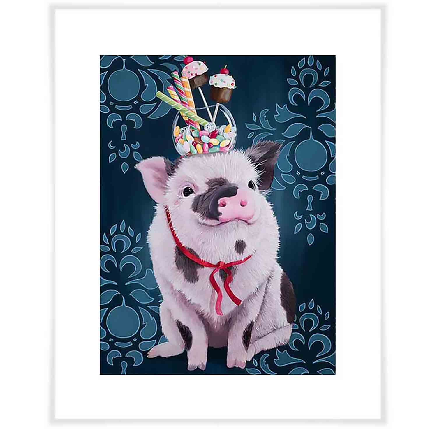 William Has A Sweet Tooth Art Print - Blue