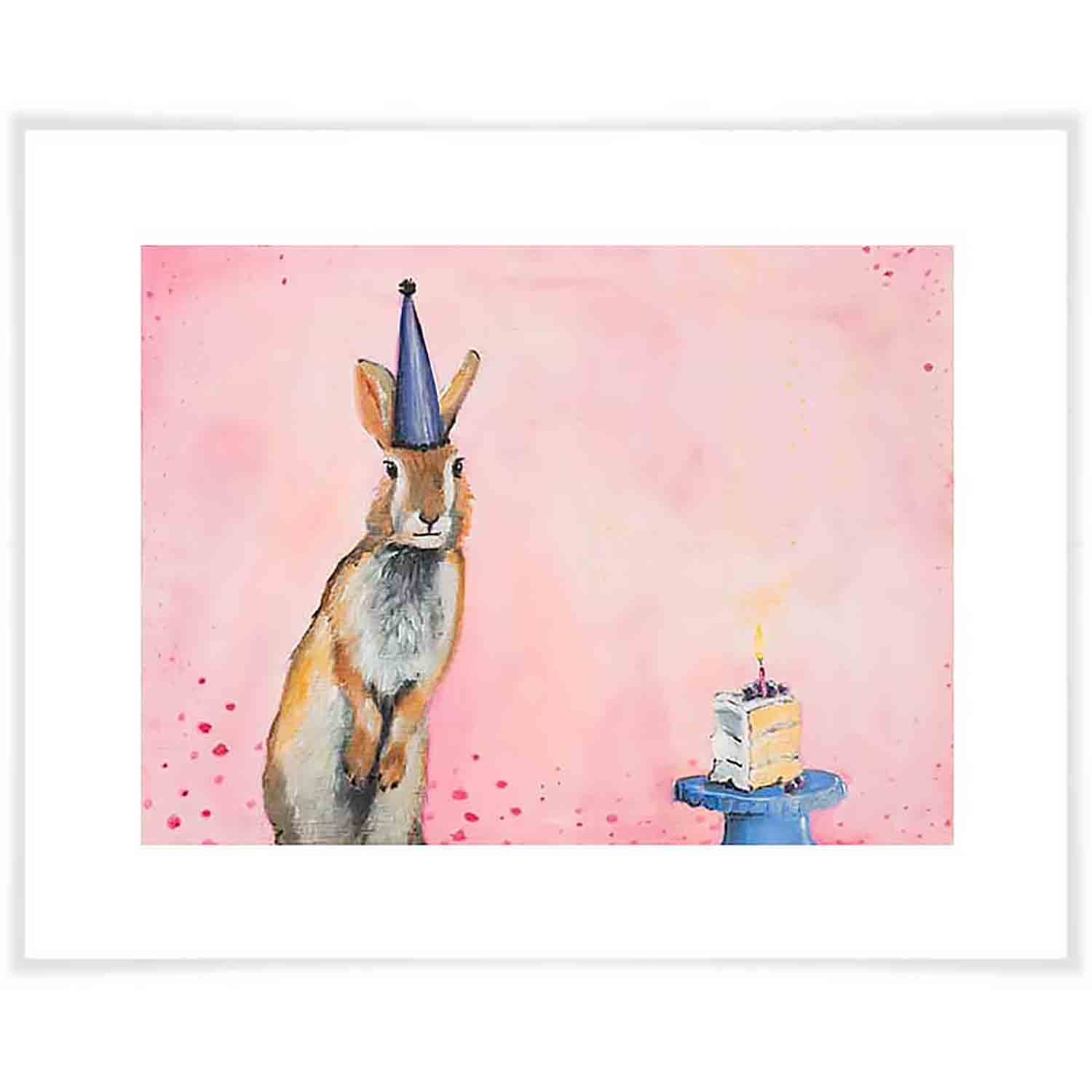 Happy Birthday Bunny Art Print