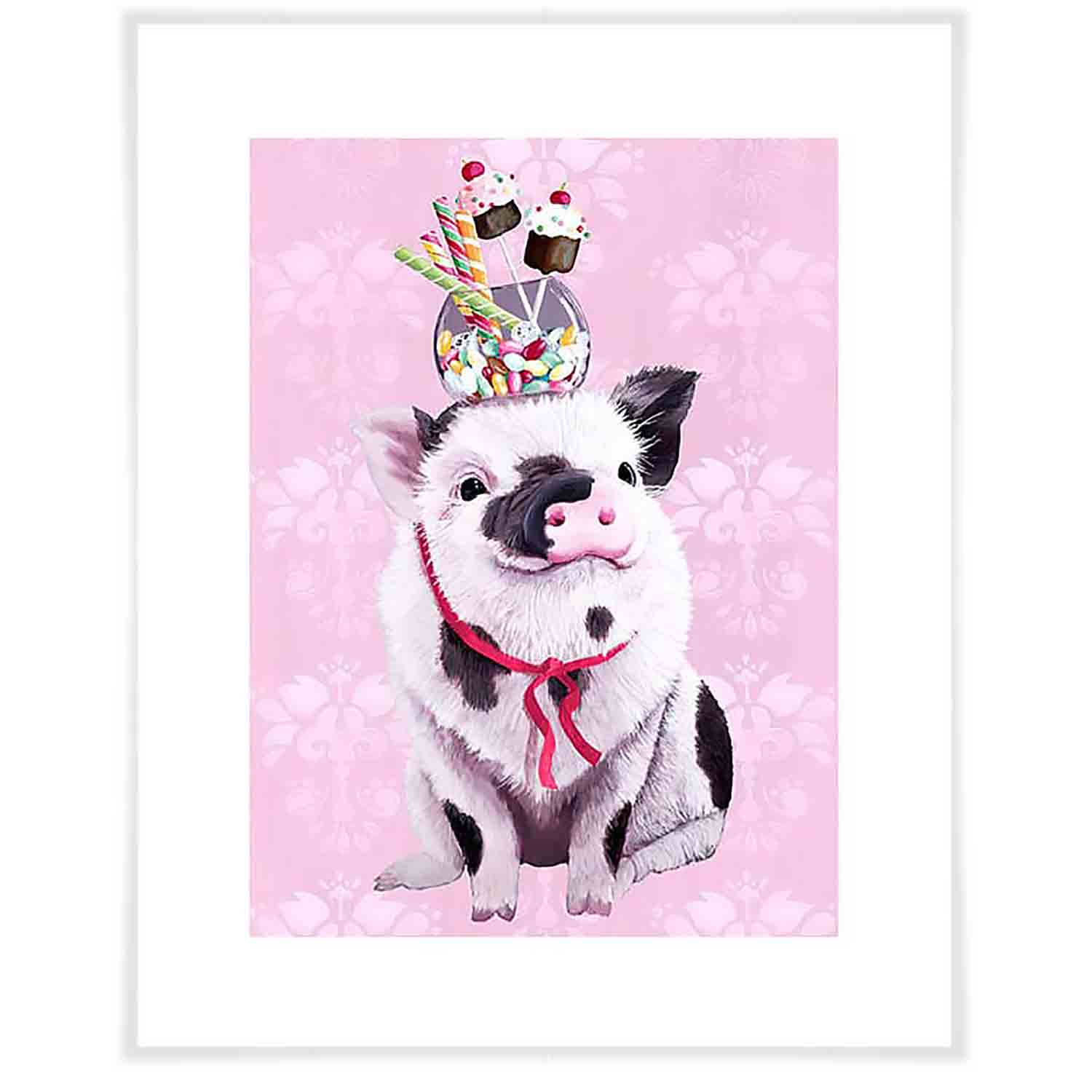 William Has A Sweet Tooth Art Print - Pink
