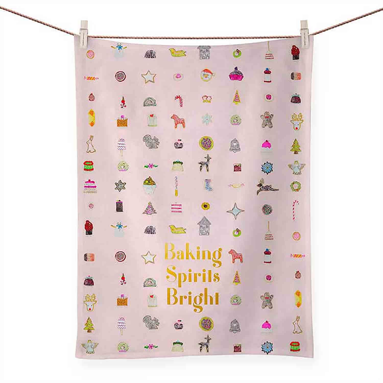 Baking Spirits Bright Tea Towel