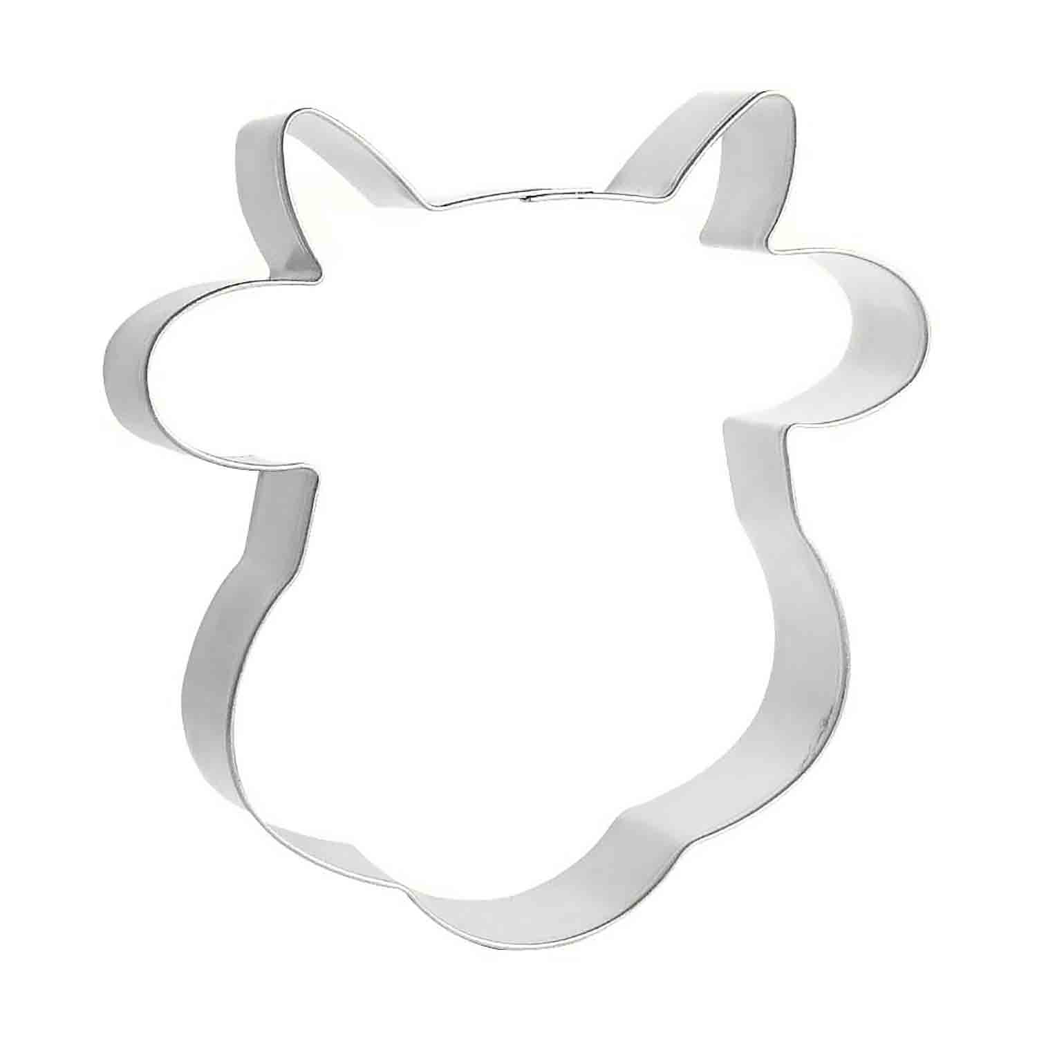 Cow with Horns Cookie Cutter