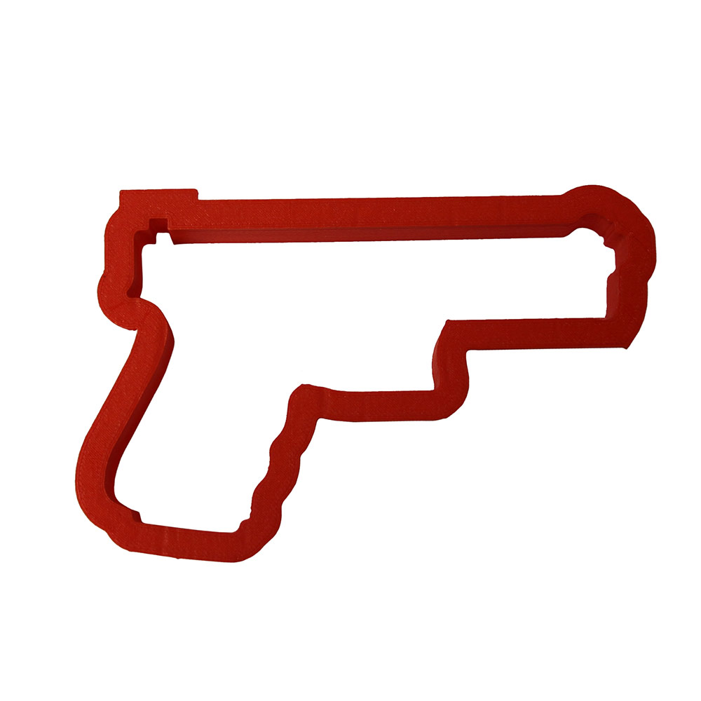 Hand Gun Cookie Cutter- Large