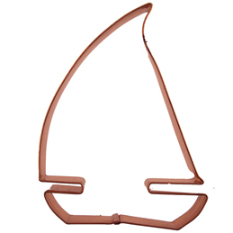 Copper Cookie Cutter-Sailboat