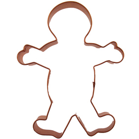 Gingerbread Boy Copper Cookie Cutter