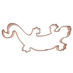 Gecko Copper Cookie Cutter