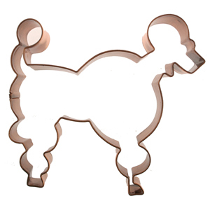 Poodle Copper Cookie Cutter