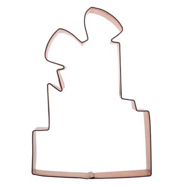Tiered Present Copper Cookie Cutter