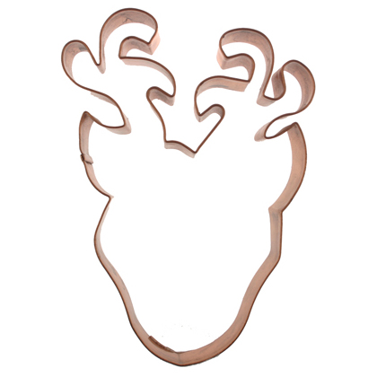 Reindeer Head Copper Cookie Cutter
