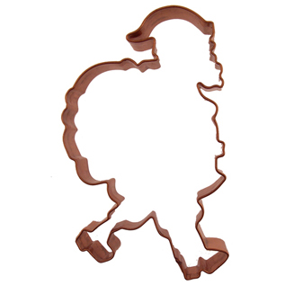 Santa Copper Cookie Cutter