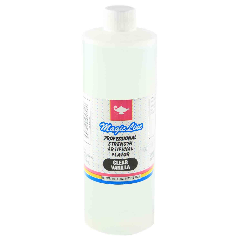 16 oz Clear Vanilla Flavor