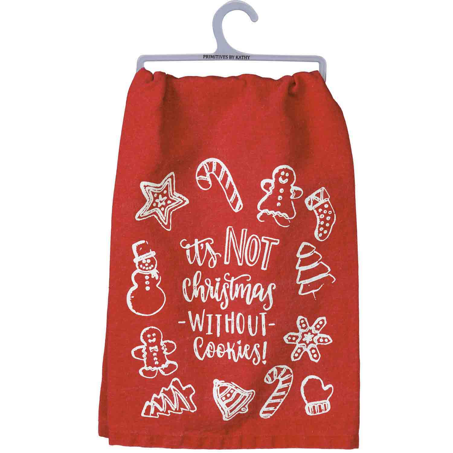 Not Christmas without Cookies Dish Towel