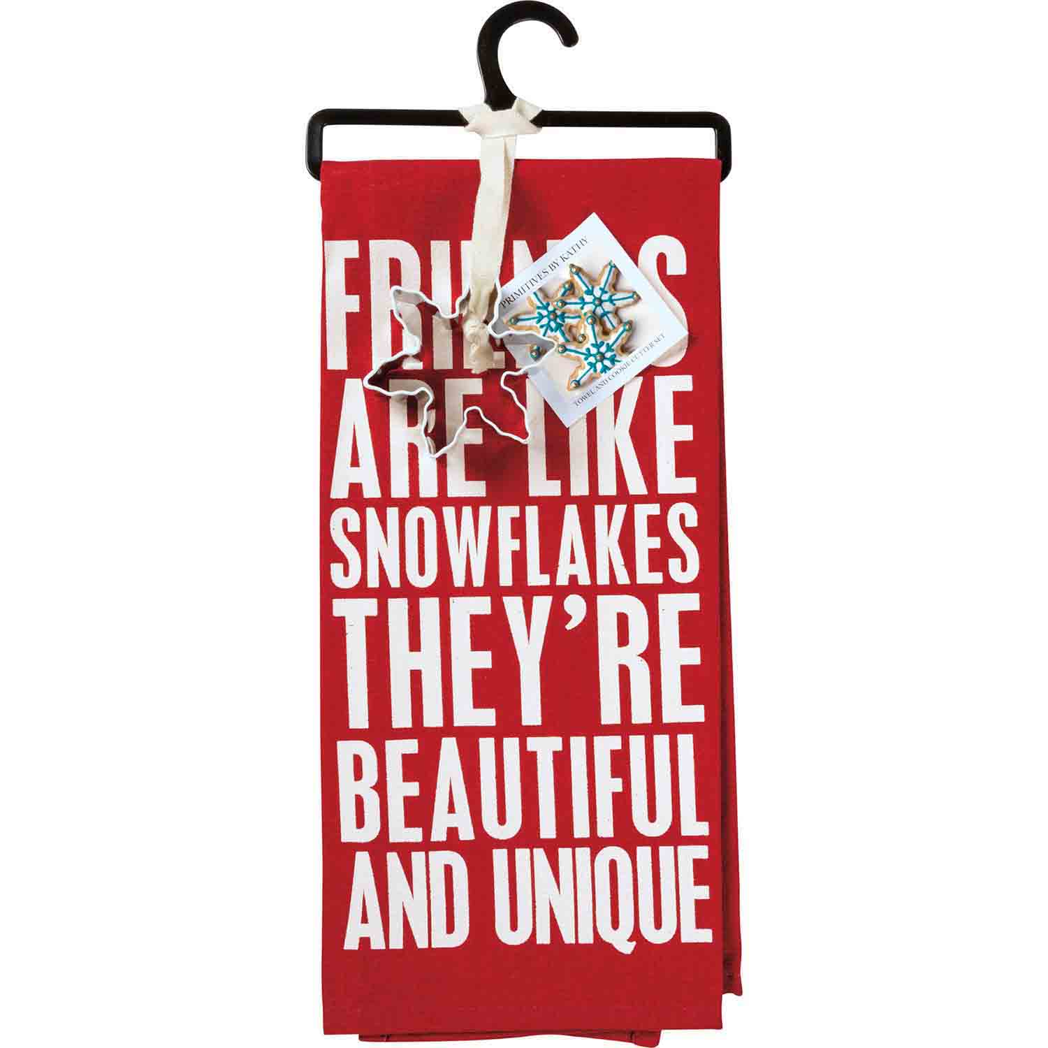 Friends Are Like Snowflakes Towel & Cutter Set