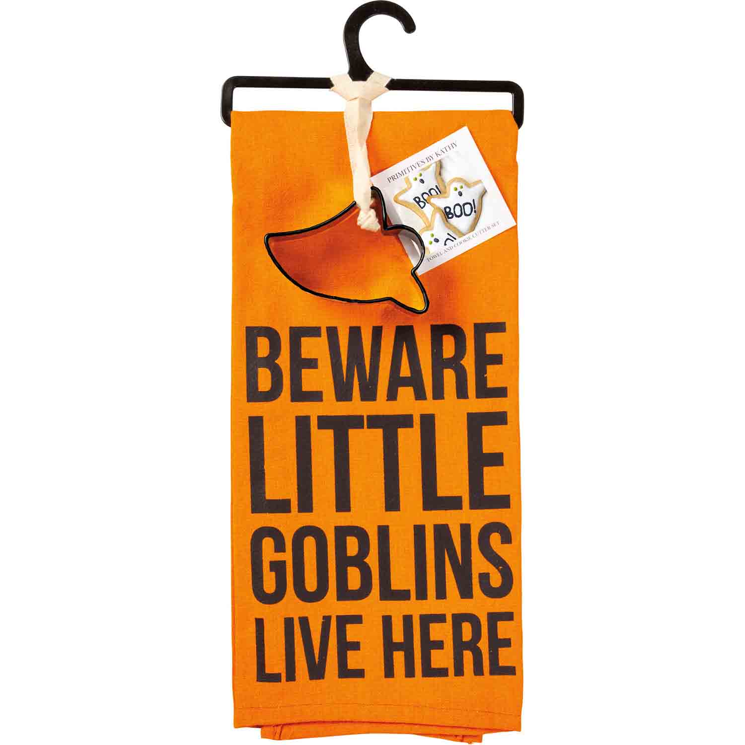 Little Goblins Live Here Towel & Cutter Set