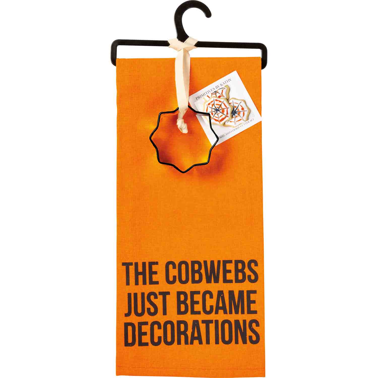 Cobwebs Become Decorations Towel & Cutter Set