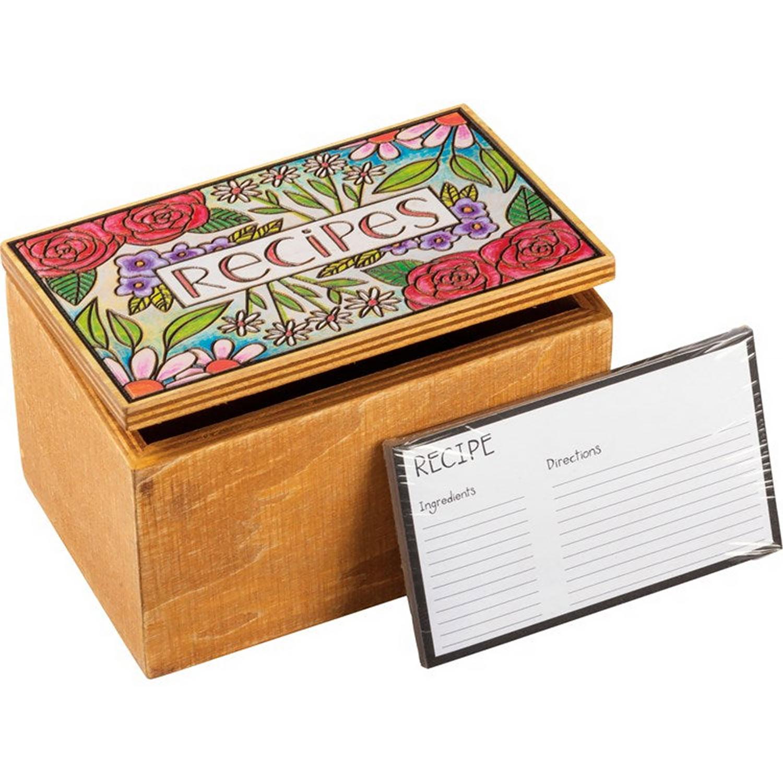 Recipe Box - Floral
