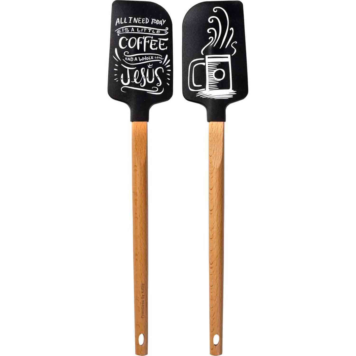Coffee And Jesus Kitchen Spatula