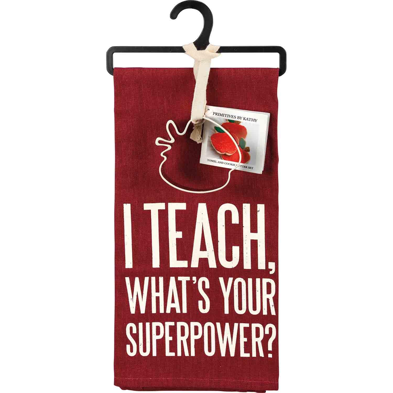I Teach Towel & Cutter Set