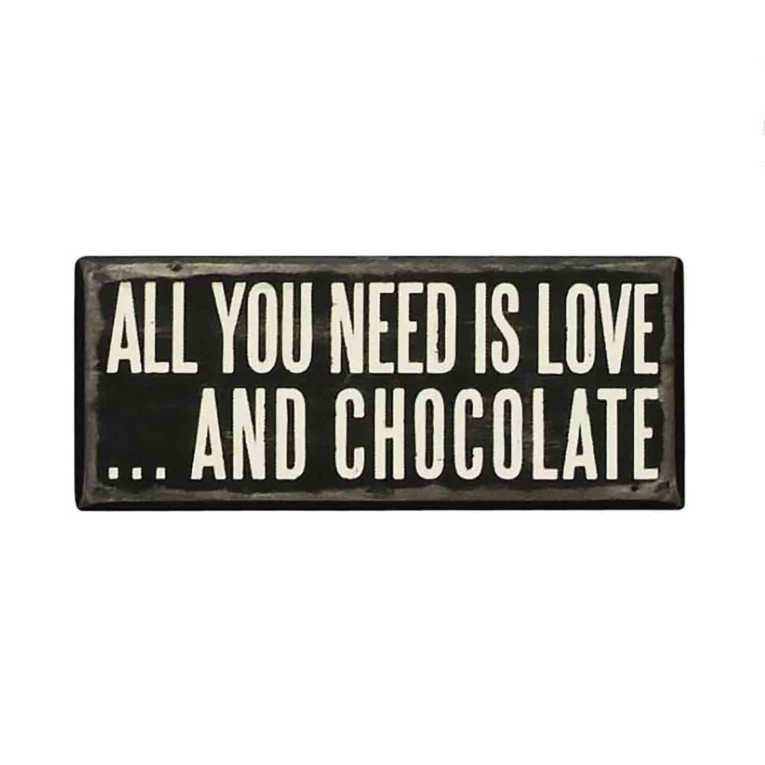 And Chocolate Box Sign