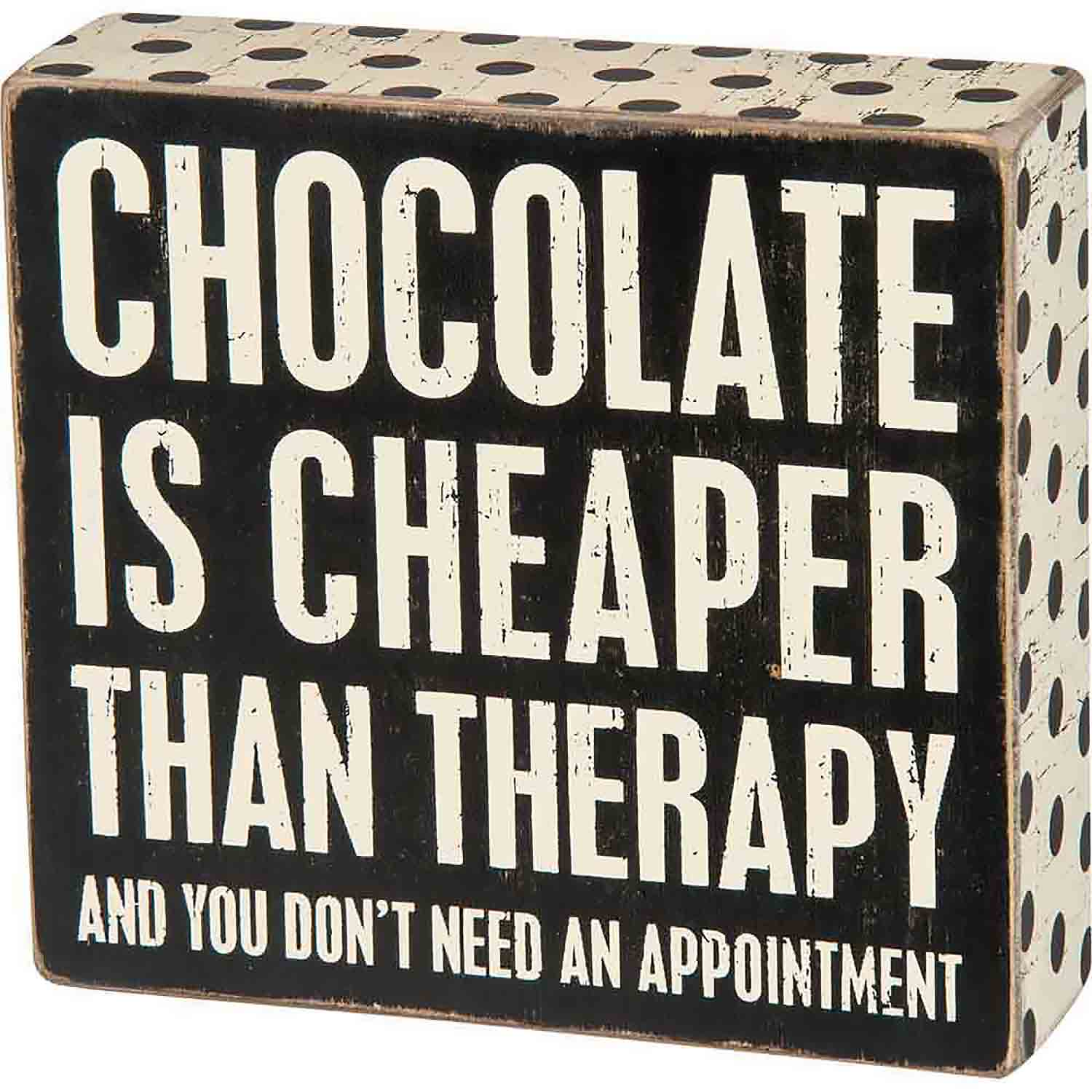 Chocolate Cheaper Box Sign