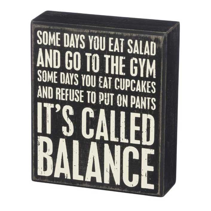 Balance Box Sign