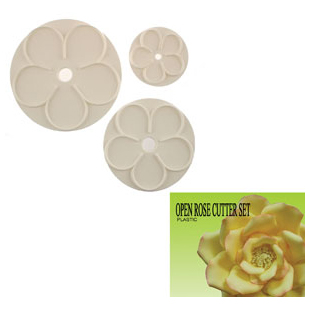 Gumpaste Cutter Set - Open Rose