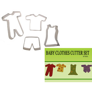 Gumpaste Cutter Set - Baby Clothes