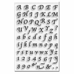 Calligraphy Alphabet Stamp Set