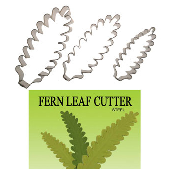Gumpaste Cutters Set - Fern Leaves