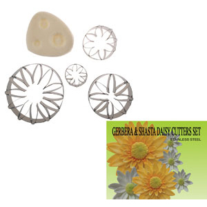 Gumpaste Cutter Set - Gerbera and Shasta Daisy