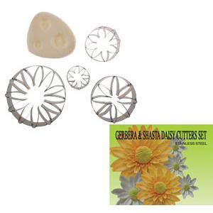 Gumpaste Cutter Set - Gerbera and Shasta Daisy