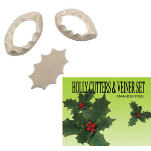 Gumpaste Cutter Set - Holly