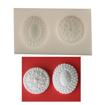 Silicone Mold - Jeweled Buttons