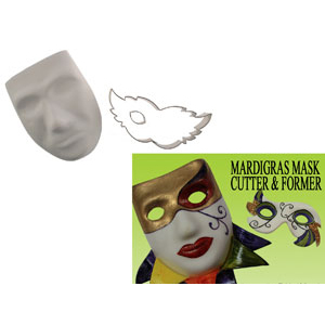 Gumpaste Cutter Set - Mardi Gras Mask