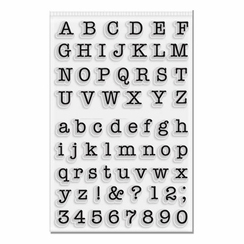 Medium Typeset Alphabet Stamp Set