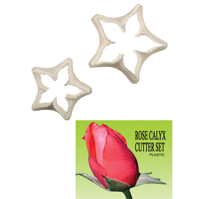 Gumpaste Cutter Set - Rose Calyx