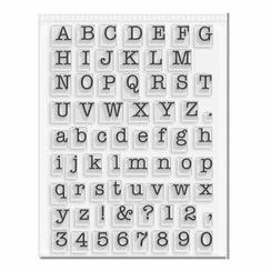 Small Typeset Alphabet Stamp Set