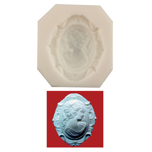 Silicone Mold - Woman Cameo