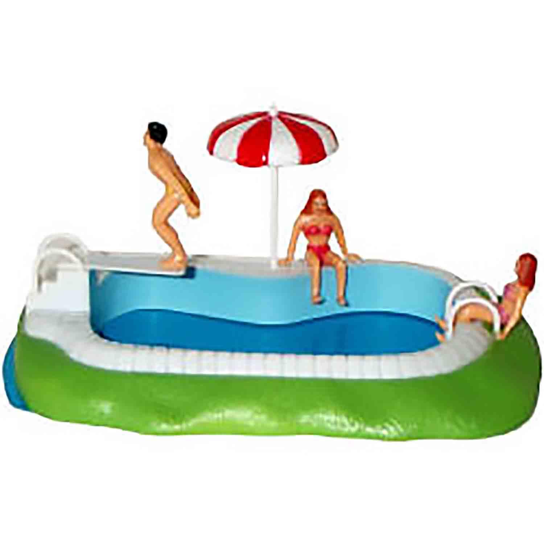 Swimming Pool Cake Topper Set