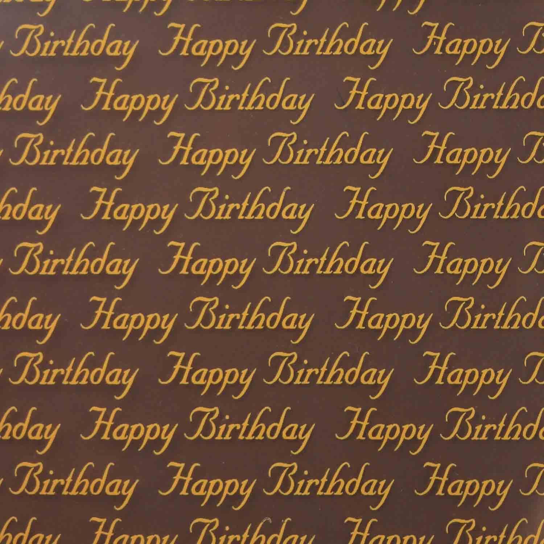 Happy Birthday Chocolate Transfer Sheet