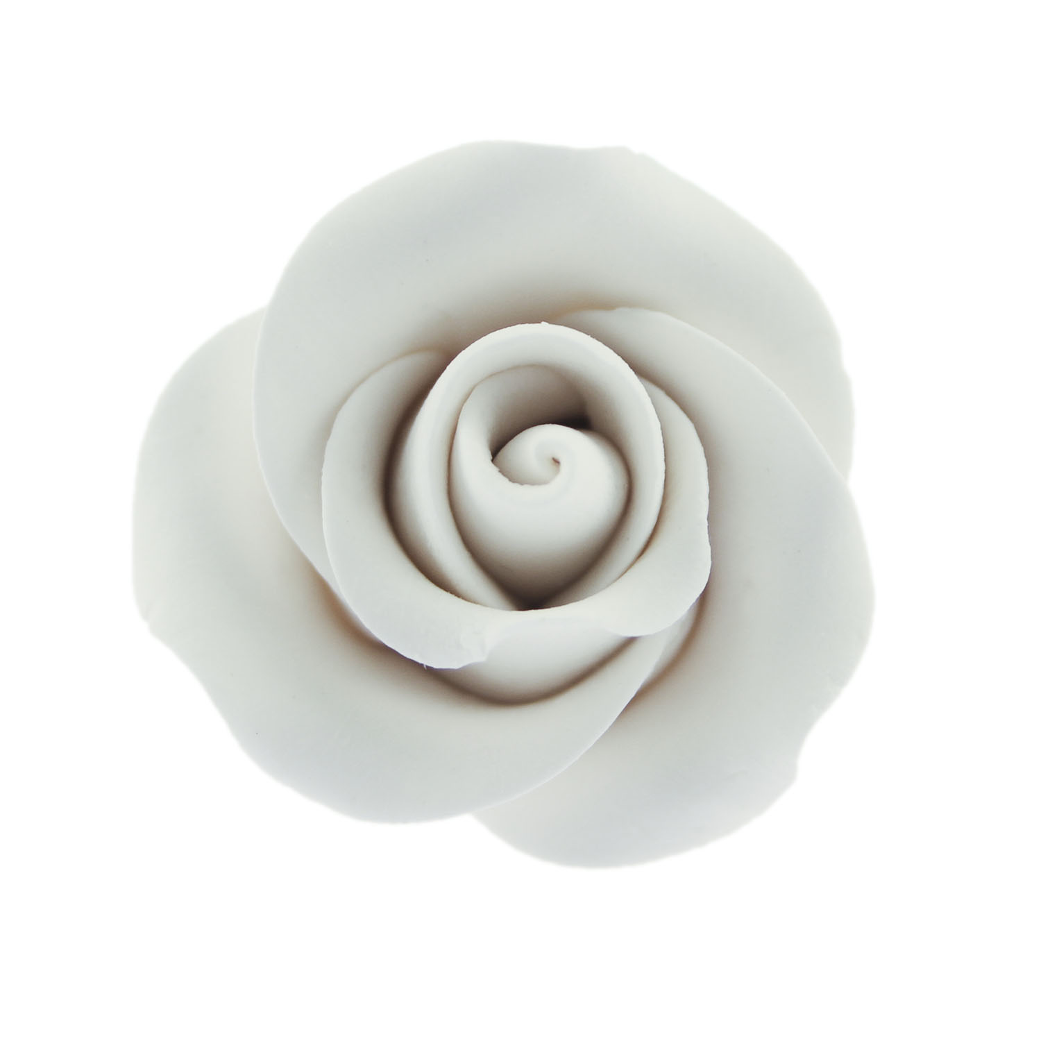 "1 1/2"" White Tea Rose Gum Paste Flower"