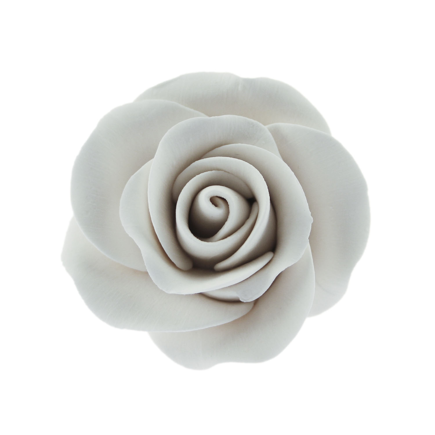 "2"" White Tea Rose Gum Paste Flower"