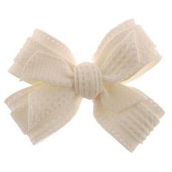 #2 White Fondant Bow