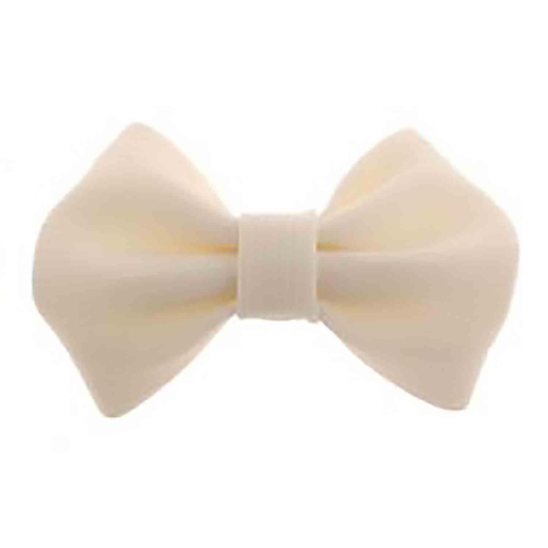 #6 White Fondant Bow