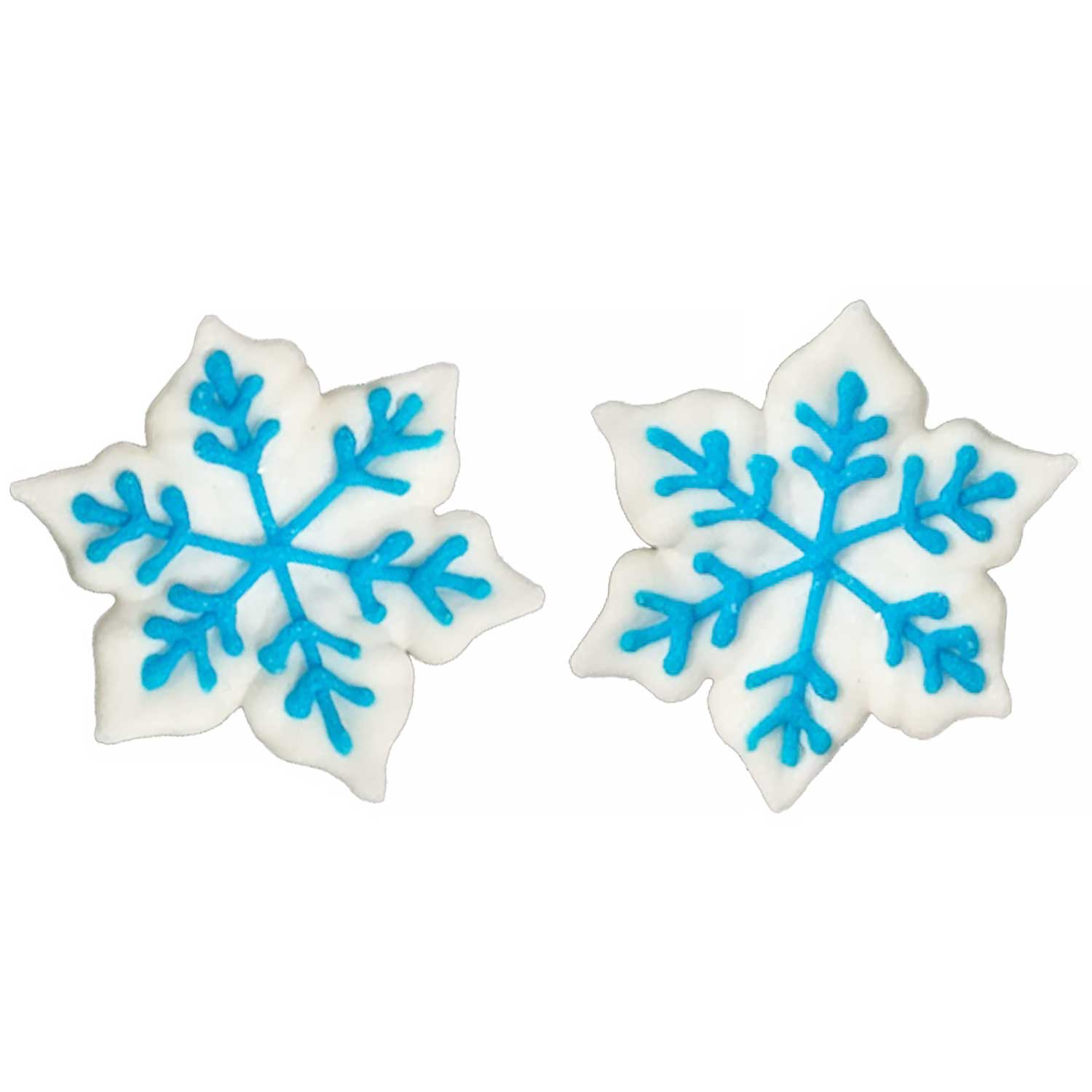 Icing Layons - Snowflakes with Blue Trim