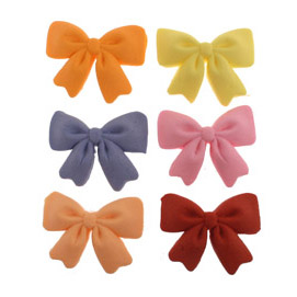 Fondant Ribbon Bow Assorted Colors