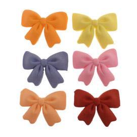 Fondant Ribbon Bow Assorted Colors