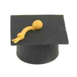 Black Grad Fondant Cap