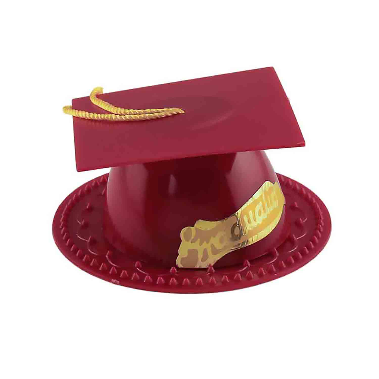 Burgundy Graduation Cap Topper