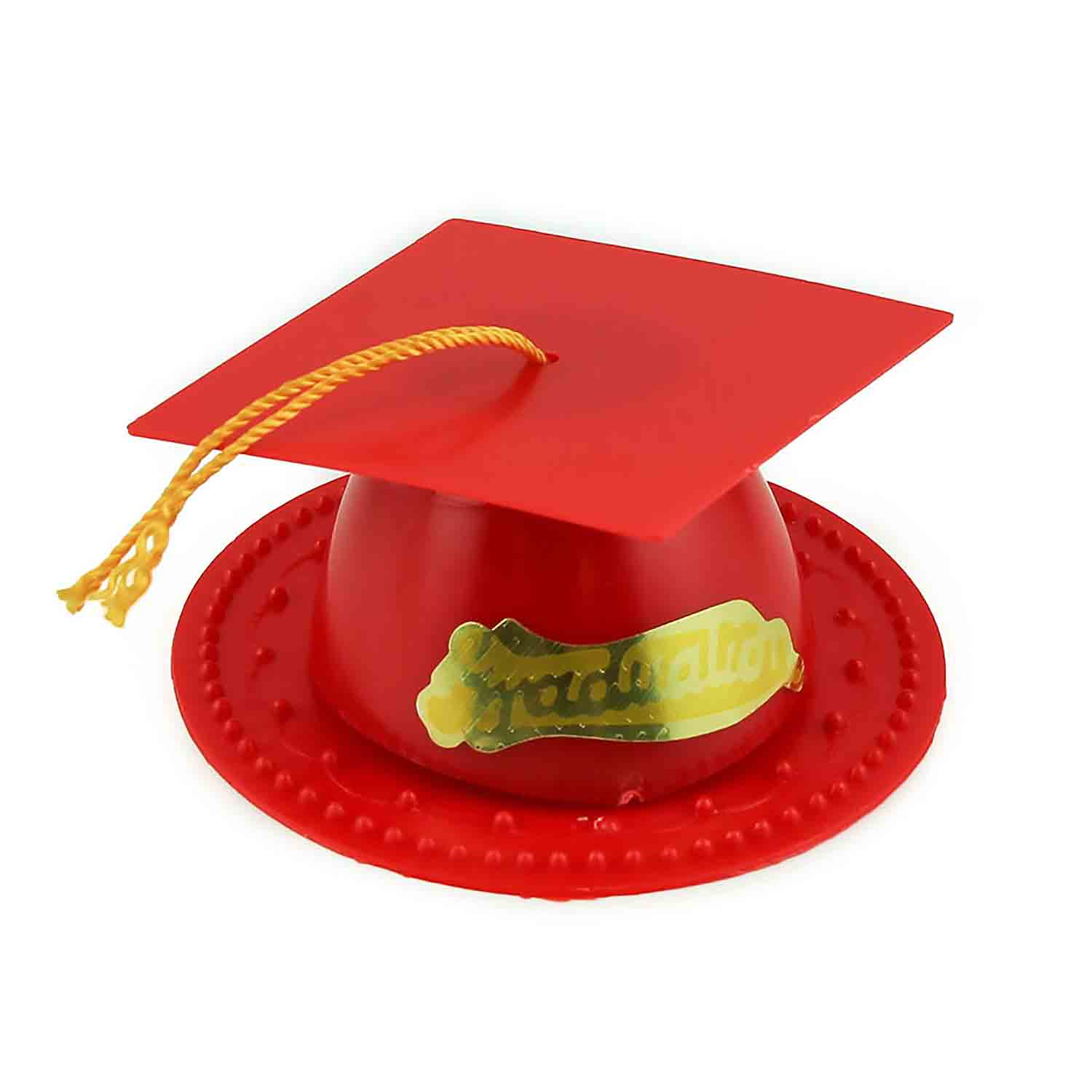 Red Graduation Cap Topper